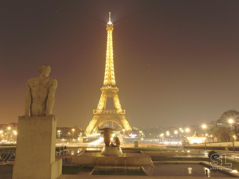 paris, eiffel tower, night photograph. fine art print, limited edition of 5.